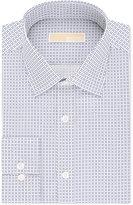 MICHAEL Michael Kors Men's Classic-Fit Non-Iron Navy Print Dress Shirt