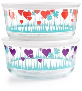 Pyrex Decorated 4-Pc. Lucky in Love Set