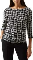 Hobbs London Floretta Houndstooth Top
