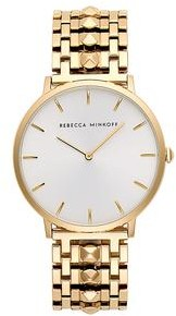 Rebecca Minkoff Major Gold Tone Bracelet Watch, 40mm