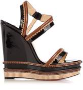 Christian Louboutin Trepi 140mm patent-leather wedge sandals