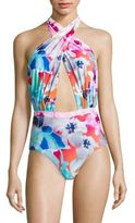6 Shore Road by Pooja Cabana Colombia Floral One-Piece Swimsuit