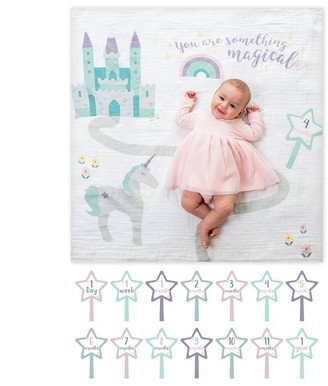 Lulujo Blanket and Cards Set Baby's First Year Something Magical