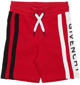 Givenchy Logo Cotton Sweat Shorts