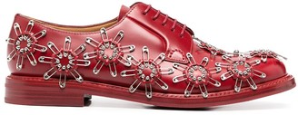 Comme des Garcons Safety Pin-Embellished Leather Shoes