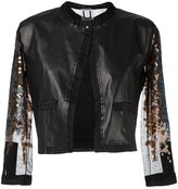 Aviu three-quarters sheer sleeve jacket