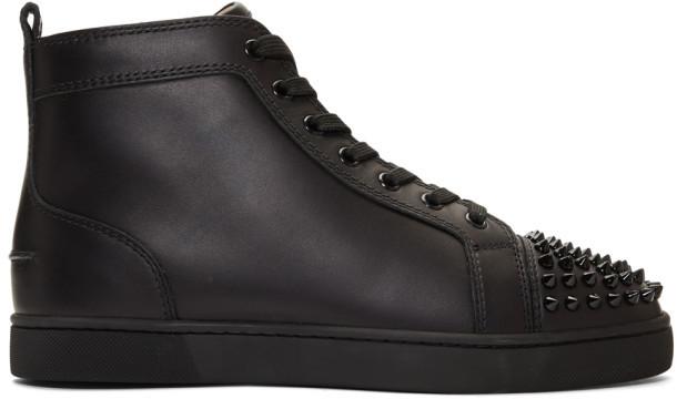 uk availability 63cbd bfa7e Black Lou Spikes High-Top Sneakers