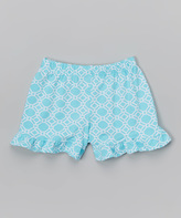 Flap Happy Aquatic Rings Ruffle Shorts - Infant Toddler & Girls