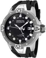 Invicta Men's 0651 Reserve Collection Sea Excursion GMT Black Dial Black Polyurethane Watch