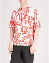 Givenchy Iris-print relaxed-fit cotton shirt
