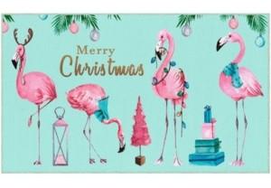 "Flamingos Merry Accent Rug, 18"" x 30"" Bedding"
