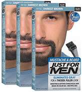 Just For Men Mustache and Beard Brush-In Color Gel, (Pack of 3, Packaging May Vary)