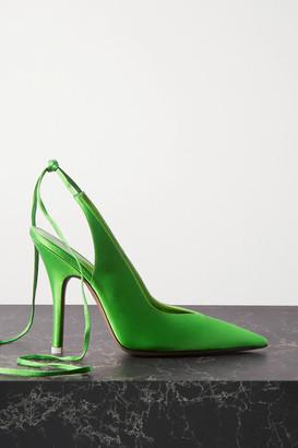 ATTICO Venus Satin Pumps - Green