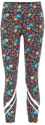 Tory Sport Floral high-rise cropped leggings