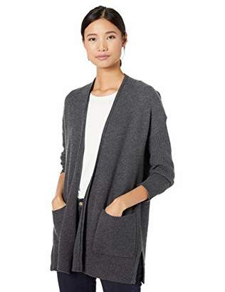 Goodthreads Wool Blend Honeycomb Cocoon Sweater Cardigan, Grey, XS