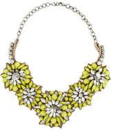 Valentino Crystal Flower Collar Necklace