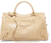 Balenciaga Classic City Textured-leather Tote - Beige