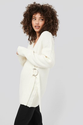 Hanna Martine X NA-KD Ribbed Knitted Cardigan