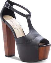 9d041e2de8e4 Jessica Simpson Black Platform Heel Women s Sandals - ShopStyle