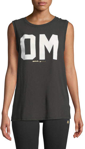 Spiritual Gangster Om Chakra Graphic Activewear Muscle Tank