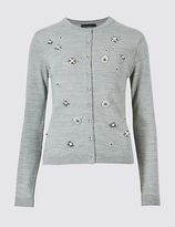 M&S Collection Embroidered Long Sleeve Cardigan