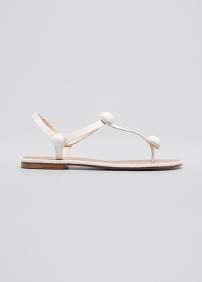 Christian Louboutin Planet Ball Thong Slingback Flat Sandals