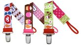 Personalized Pacifiers Personalized Pacifier Clip - Set of 3 (Fruit Salad, OMG Cupcakes, Lady Bug)