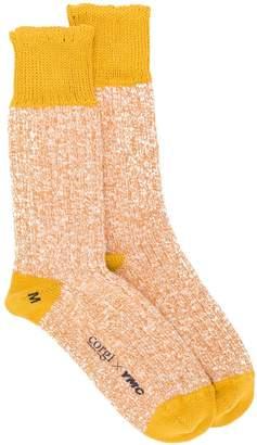 YMC cable knit socks