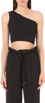 Helmut Lang Asymmetic stretch-jersey top
