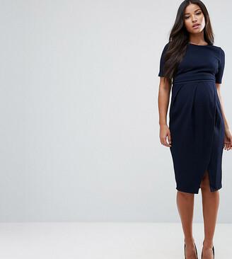 ASOS DESIGN Maternity double layer textured smart dress