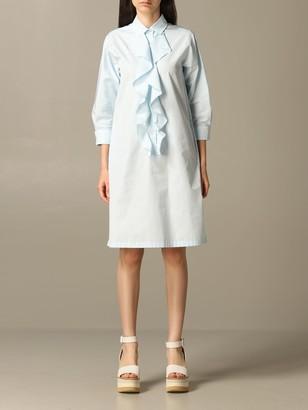 Max Mara Shirt Dress With Ruffles