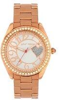 Betsey Johnson BJ00048-48 Ladies Rose Gold Glittery Heart Design Watch