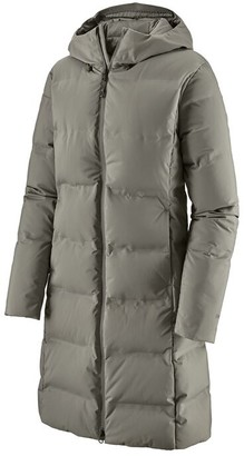 Patagonia Feather Grey Polyester Womens Jackson Glacier Parka Jacket - m | polyester | Feather Grey - Black/Black
