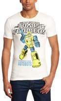 Logoshirt T-Shirt Slim Fit Transformers - Bumblebee - Autobots, Off-White, XXL