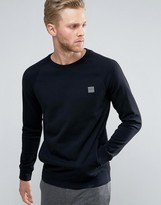 BOSS ORANGE by Hugo Boss Crew Neck Sweatshirt in Black