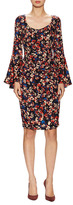 Tracy Reese Silk Printed Flounce Knee Length Dress