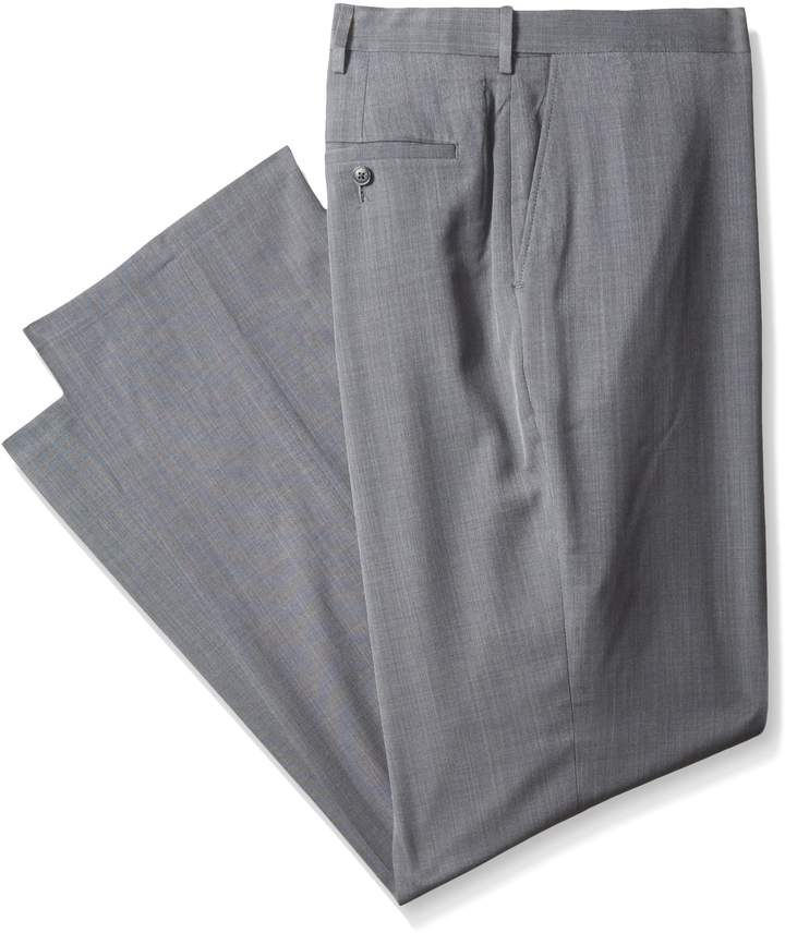 Haggar Men's Big-Tall Performance Stria Gabardine Classic Fit Suit Separate Pant