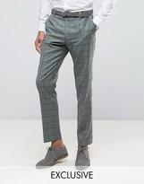 Heart & Dagger Slim Suit Trouser In Summer Wedding Check