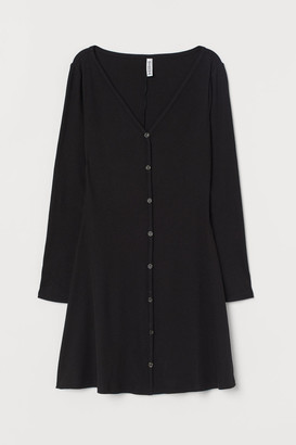 H&M V-neck jersey dress