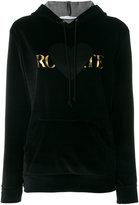 Rodarte graphic foil logo hoodie