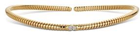 Marina B 18K Yellow Gold Trisolina Pave Diamond Collar Necklace