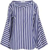 ADEAM Striped Cotton Button-Down Shirt