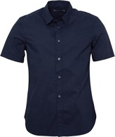 French Connection Mens Dot Shirt Marine
