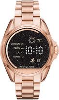 Michael Kors Access Unisex Digital Bradshaw Rose Gold-Tone Stainless Steel Bracelet Smart Watch 45mm MKT5004