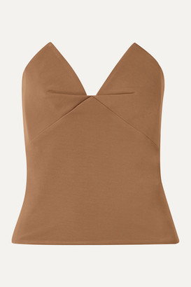 Cushnie Stretch-cady Bustier Top - Camel