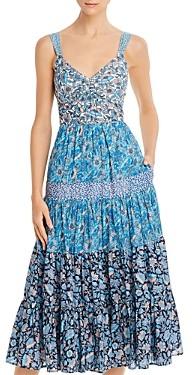 Rebecca Taylor La Vie Print Mix Floral Dress