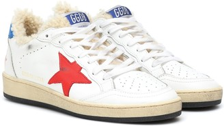 Golden Goose Ball Star leather and shearling sneakers