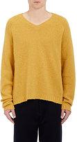 Marni Men's Rib-Knit V-Neck Sweater-YELLOW