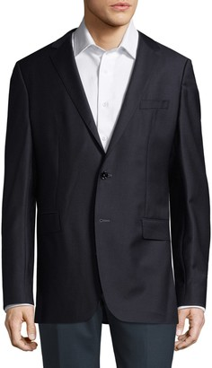 HUGO BOSS Notch Lapel Wool Jacket