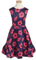 Sweet Heart Rose Girl's Ruffle Hem Dress